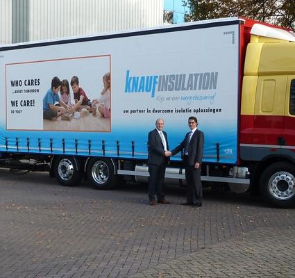 Vrachtwagenzeil Knauf Insulation